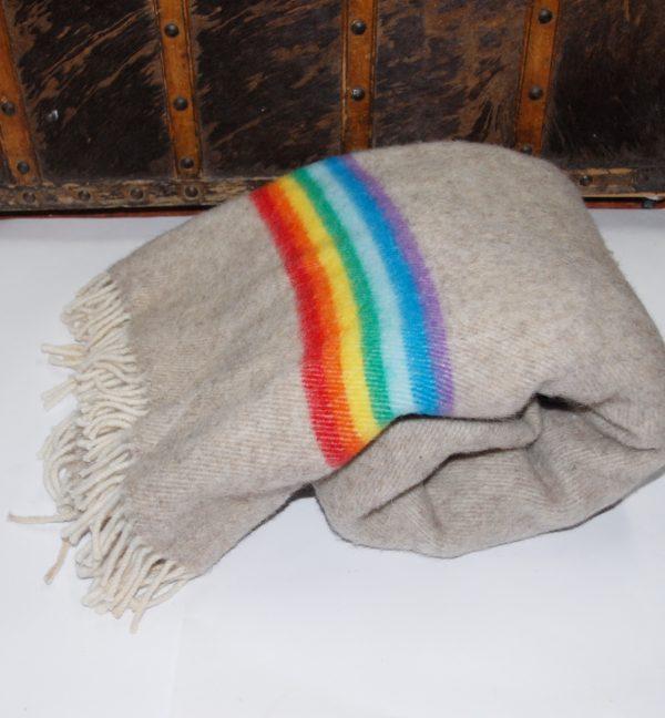 Manta de lana Arcoíris