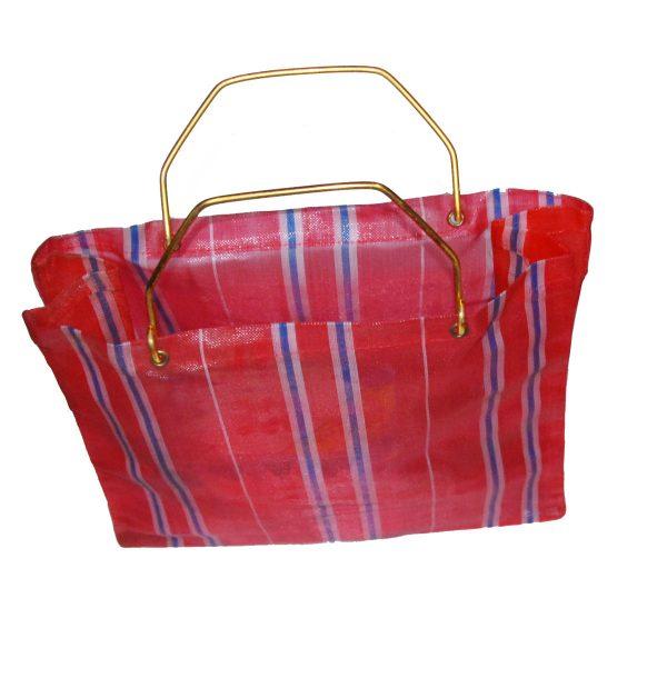 Bolsa de la compra 80s color rojo