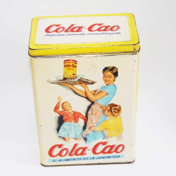 Antigua lata Cola Cao arroz