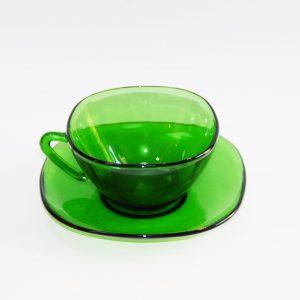 Taza y plato de café Duralex
