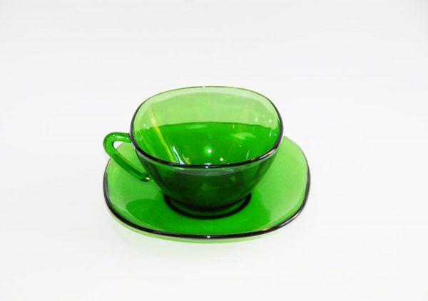 Duralex plato y taza color verde