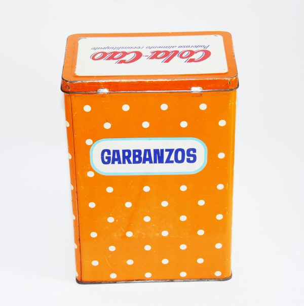 Antigua lata Cola Cao garbanzos