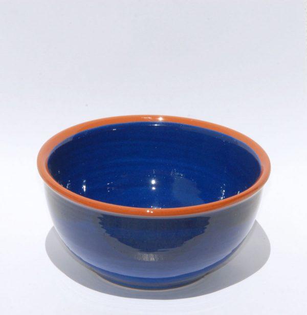 Bol de cerámica azul