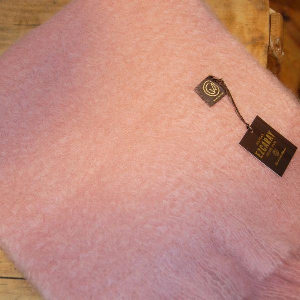 Bufanda Ezcaray mohair rosa