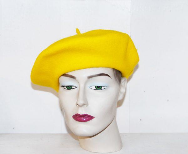 Boina Elósegui amarillo canario