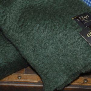 Manta Ezcaray Mohair verde oliva