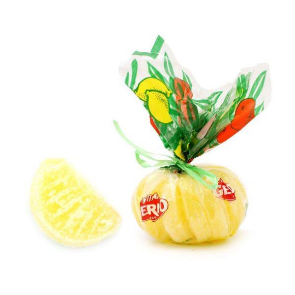 Caramelo duro gajos de limón