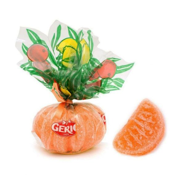 Caramelo duro gajos de naranja