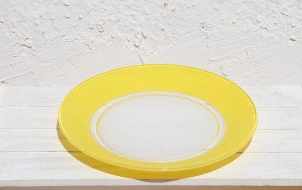 Duralex amarillo plato llano