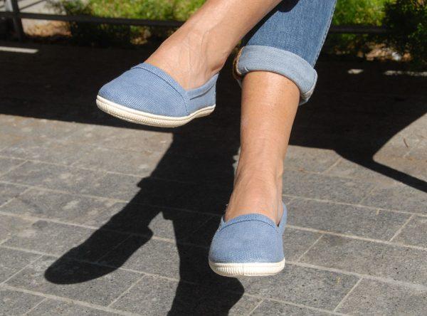 Camping zapatillas azules