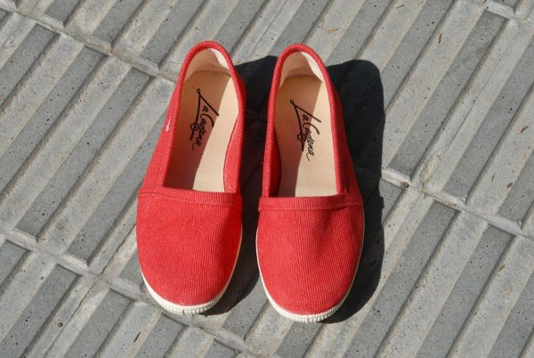 Camping zapatillas rojas