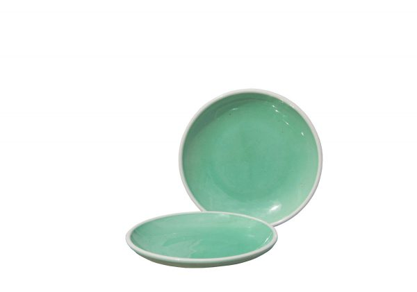Plato cerámica verde