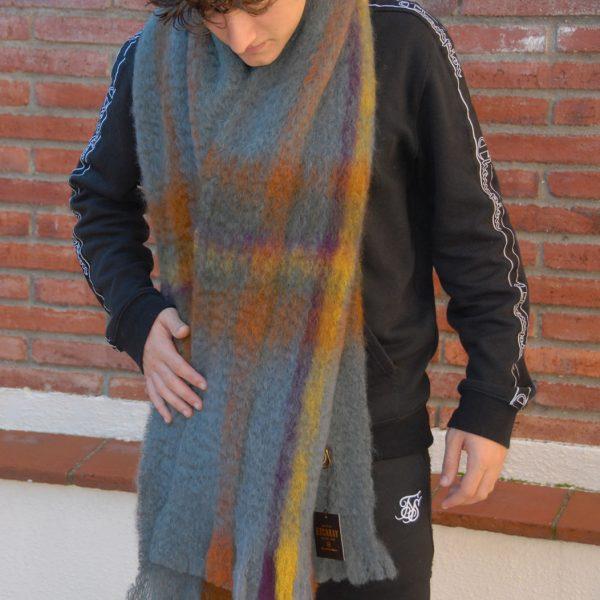 Ezcaray bufanda tartán gris