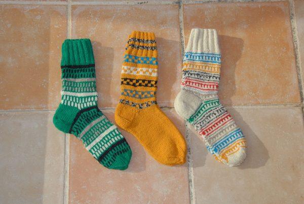 Calcetines lana hechos a mano