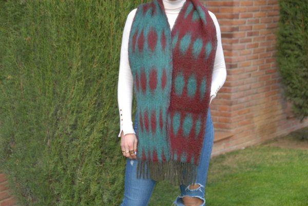 Ezcaray foulard Africa mohair