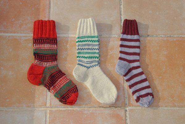 Calcetines de lana hechos a mano en León