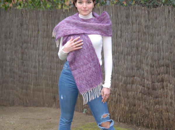 Ezcaray foulard lila mohair
