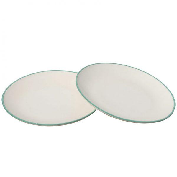 Plato llano de cerámica artesanía