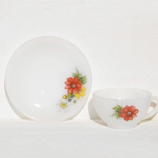 Arcopal flores taza de café