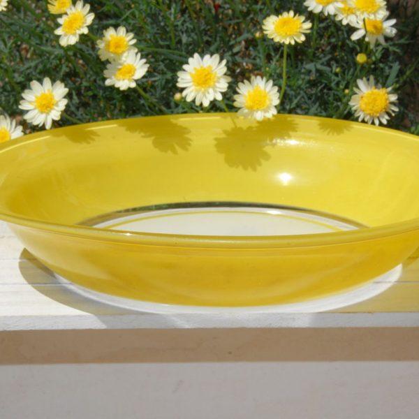 Fuente redonda Duralex amarillo