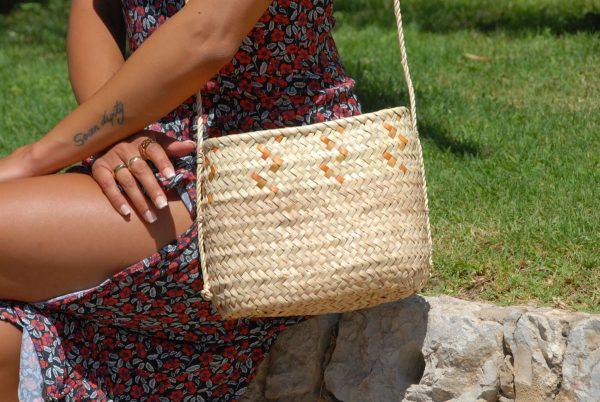 Artesanía de Mallorca bolso de palmito
